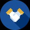 handshake-blue